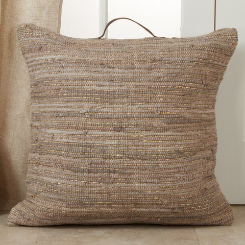 Floor Pillow with Chindi Design