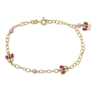 Link to Miadora 18k Yellow Gold Butterfly Charm Station Baby Bracelet - N/A Similar Items in Children's Jewelry