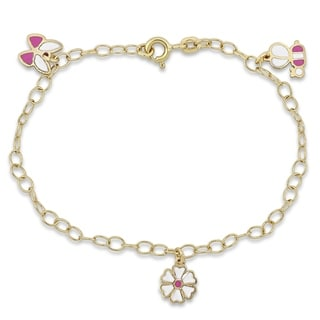 Link to Miadora 18k Yellow Gold Children's Charm Link Bracelet - N/A Similar Items in Children's Jewelry