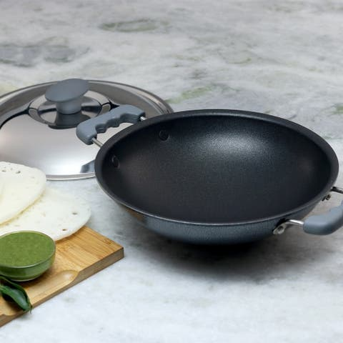 Wonderchef Non-stick, Appachetty with lid For Appam and Crepes, 22cm