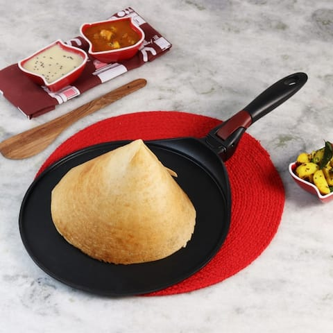 Wonderchef Click Dosa Tawa Crepe Pan with Detachable Handle, 30cm