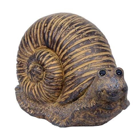 Alpine Corporation Snail Statue made of Rustic Stone, Indoor/ Outdoor