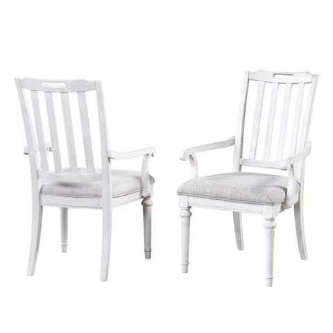 Sonoma Slat Back Arm Chair by Panama Jack - Set of 2