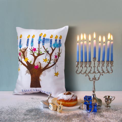 16x12 Decorative Pillow/Hanukkah Tree