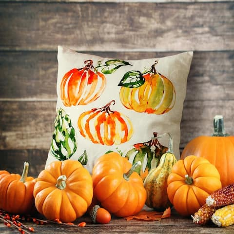 20x20 Decorative Pillow/Pumpkins