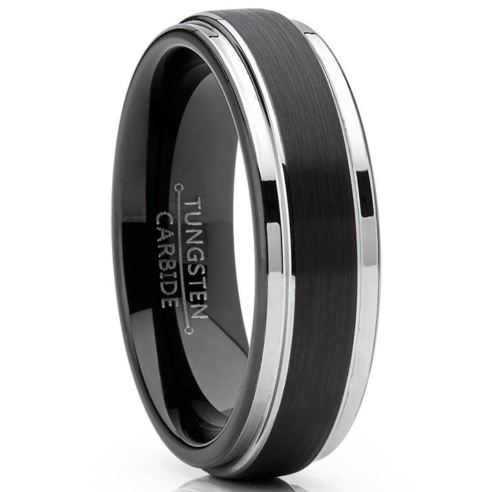 Tungsten Carbide Size 8 Kobelli Mens Black Tungsten Carbide Wedding Band 8mm