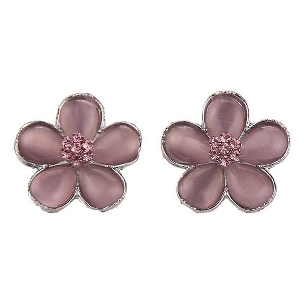 Hermione Granger Pink Flower Earrings (Pair). Opens flyout.