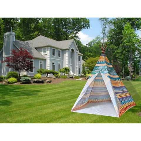 8' Feet Super Large Teepee Kid's Play Tent for indoor and outdoor