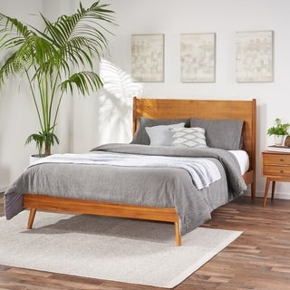 Link to OkiOki Mid-Century Wood Bed Similar Items in Bedroom Furniture
