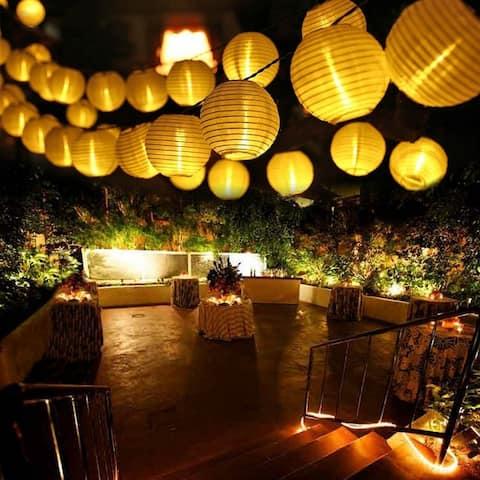 12.5ft Solar LED White String Lights - 30pc