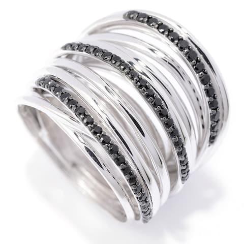 925 Sterling Silver Black Spinel Ring