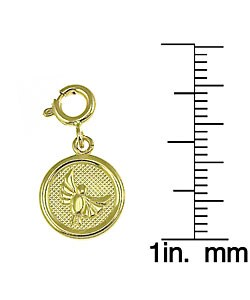 14k Yellow Gold Seven Wishes 'Peace' Charm