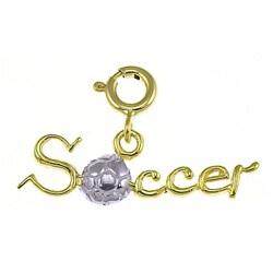 14k Yellow Gold Soccer Charm