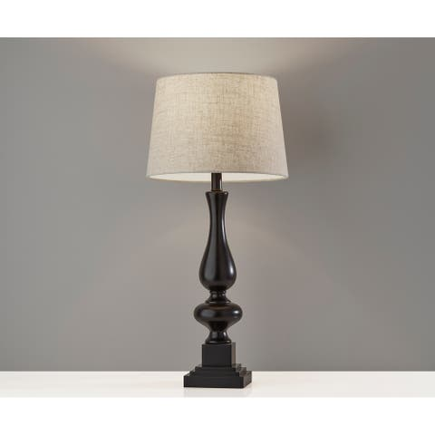 Adesso Gary Black Table Lamp (Set of 2)