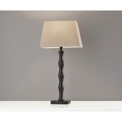 Adesso Wayne Black Table Lamp (Set of 2)