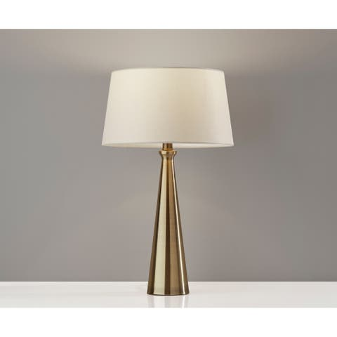 Adesso Lucy Tapered Table Lamp 2pc Set