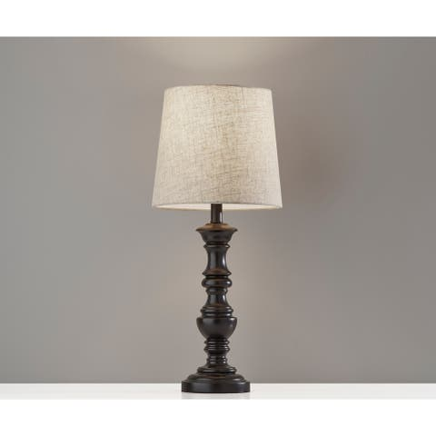 Adesso Robert Black Table Lamp 2pc Set
