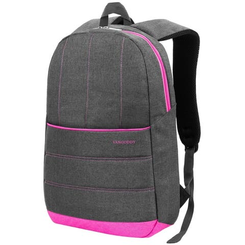 Padded Grey Lightweight Laptop Backpack for 15.6 Inch Laptop