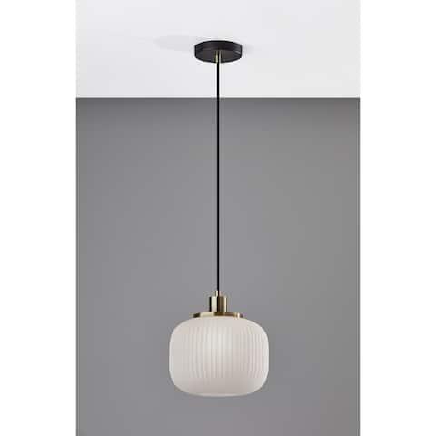 Adesso Hazel Antique Brass Pendant Lamp