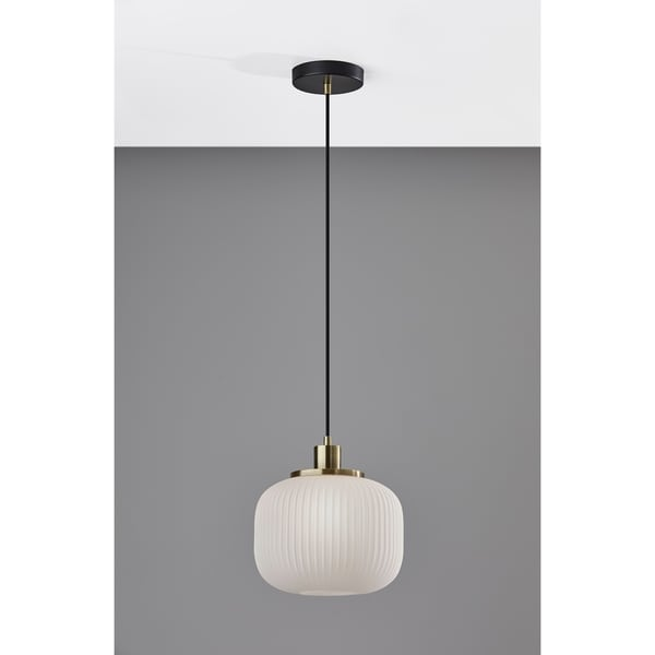 Adesso Hazel Antique Brass Pendant Lamp. Opens flyout.