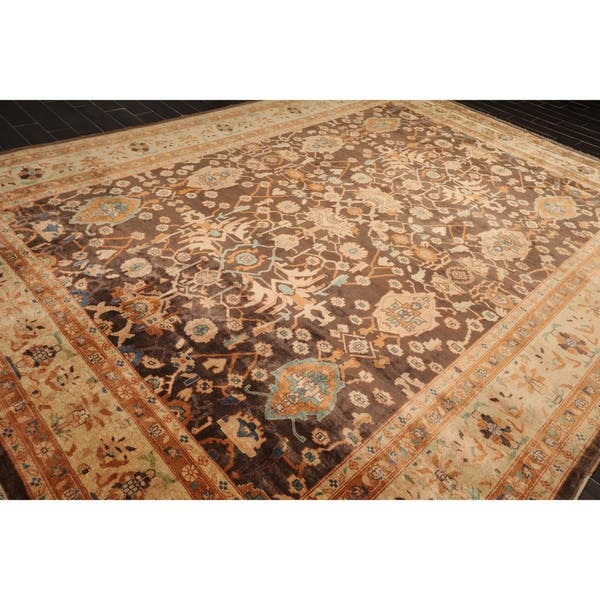 10x14 Hand Knotted Brown Beige Rust Color Persian 100 Wool Oushak Traditional Oriental Rug 10 2 X 13 10 On Sale Overstock 30841758