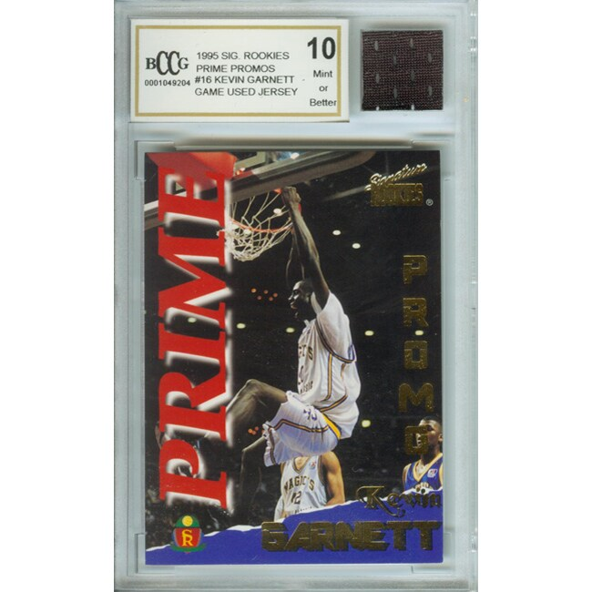 Kevin Garnett Mint 10 Rookie Card/ Game Jersey