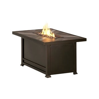 "Agio Chatham 32""x52"" Rectangular Fire Pit with Porcelain Top"