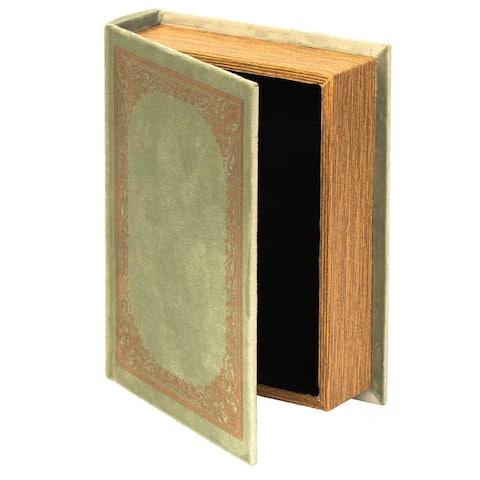 Decorative Vintage Book Shaped Trinket Storage Box