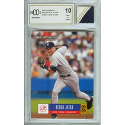 Derek Jeter Mint 10 Card and Game Used Glove