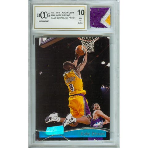 Kobe Bryant Mint 10 Card/ Game Used Jersey Patch