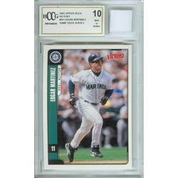 Edgar Martinez Mint Card and Game-used Jersey