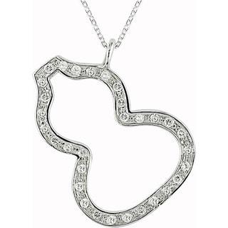 Miadora Sterling Silver Cubic Zirconia Calabash Necklace