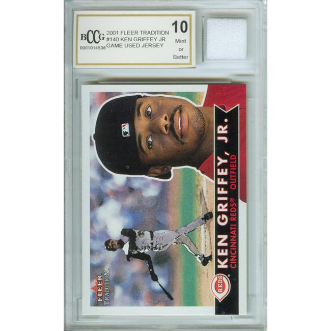 Ken Griffey Jr. Mint Card and Game-used Jersey