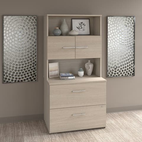 Office 500 Lateral File Cabinet with Hutch by Bush Business Furniture