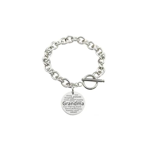 Solid Stainless Steel Toggle Bracelet by Pink Box Grandma