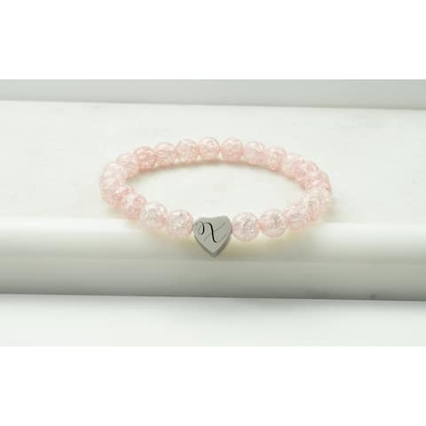 Crystal Initial Stretch Bracelet by Pink Box X Pink