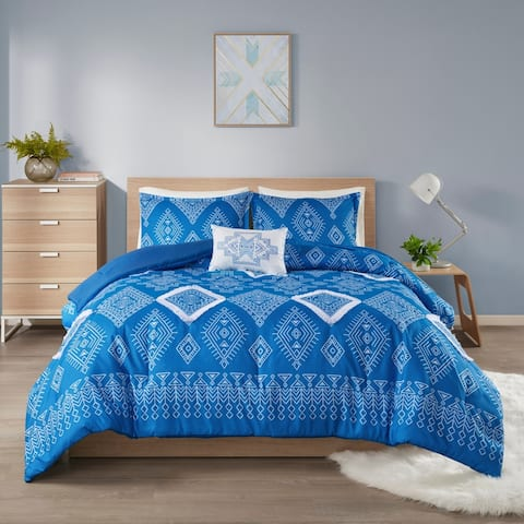 Intelligent Design Candice Printed Comforter Set with Fringe Trim