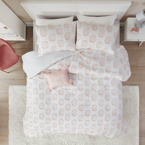 Intelligent Design Reese Clipped Jacquard Duvet Cover Set