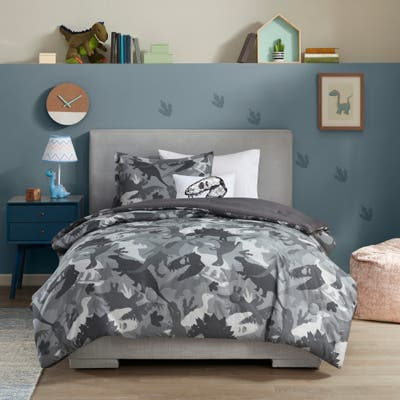 Mi Zone Kids Carter Printed Dino Camo Comforter Set