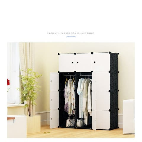 "44"" x 15"" x 58"" DIY Stackable Storage Cabinet"