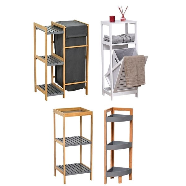 Corner Shelving Unit Floor Storage