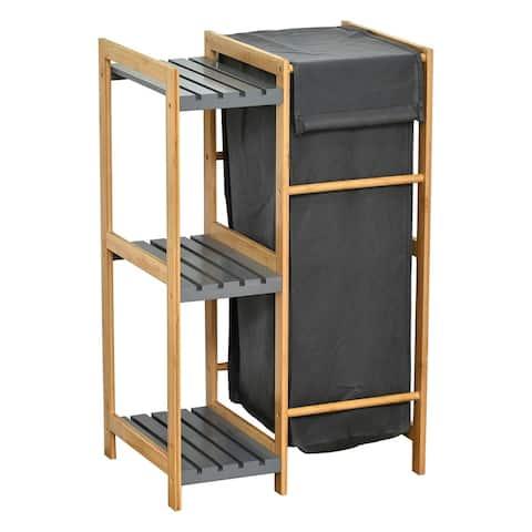 """Tilt-Out Laundry Linen Hamper 55 Liters Combo Cabinet - 19""""L x 13""""W x 21.4""""H"""