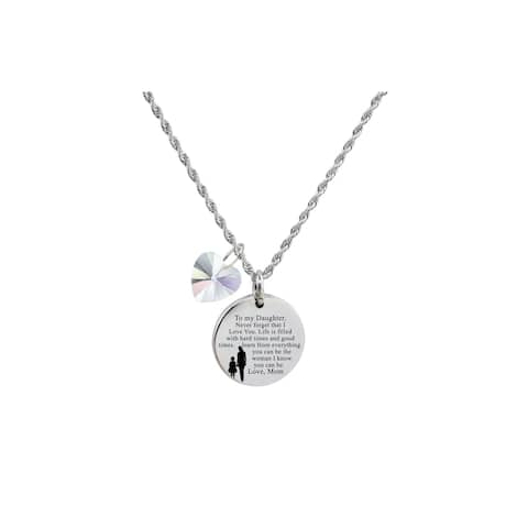 ce made with Crystals from Swarovski to Daughter From Mom Silver