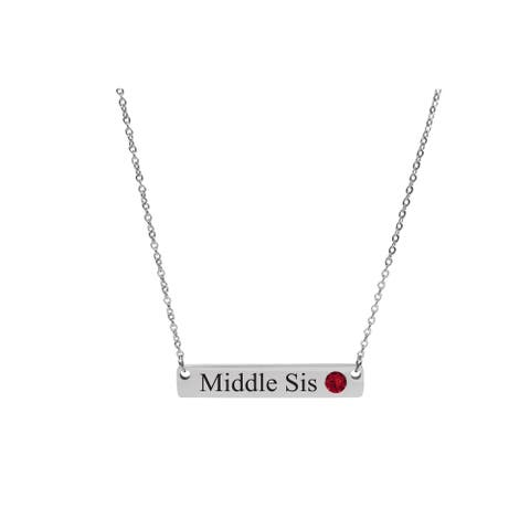 cklace Made with Swarovski Crystals by Pink Box MIDDLE SIS SILVER