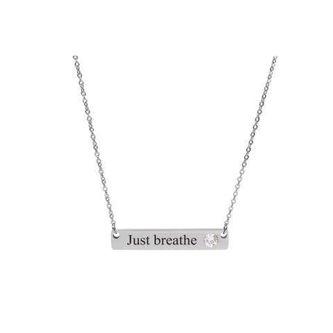 lace Made with Swarovski Crystals by Pink Box JUST BREATHE SILVER