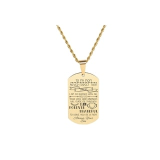 Link to Solid Stainless Steel Sentimental Message Tag Necklace by Pink Box Part 1 to Mom From Son Gold Similar Items in Fashion Jewelry Store