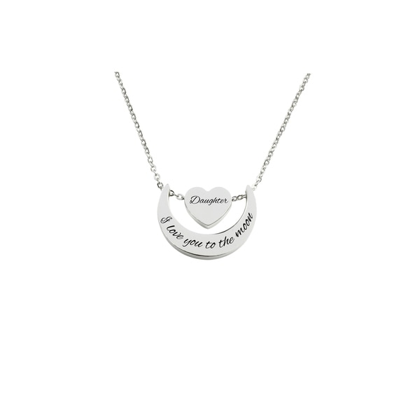Love you to the moon heart pendant necklace by Pink Box DAIGHTER. Opens flyout.