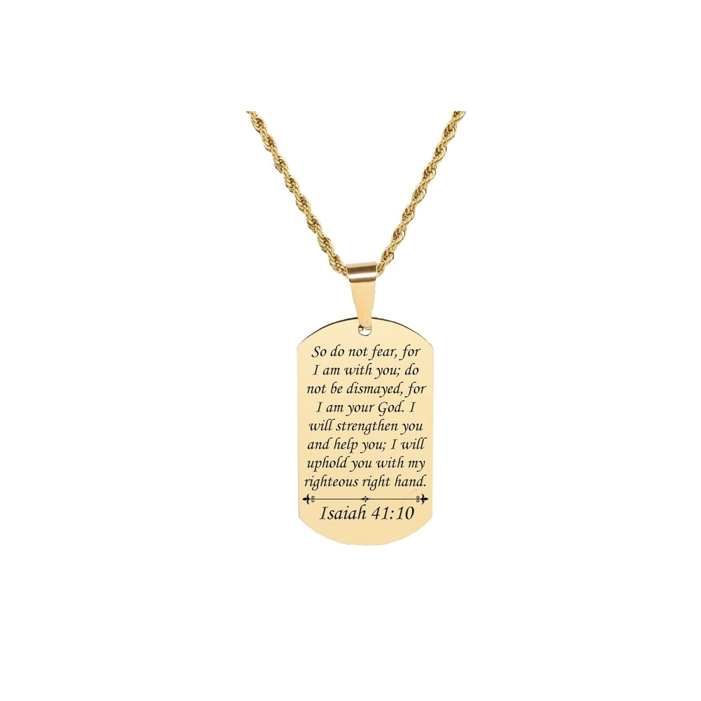 Give Rose Gold Pink Box Bezeled Disc Inspiration Necklace