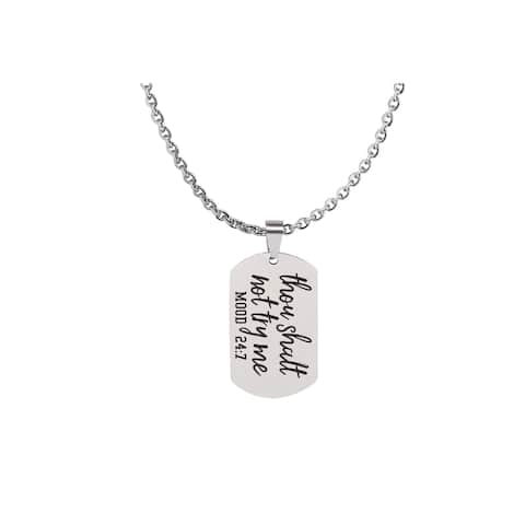 Fully Adjustable Snarky Tag Necklace by Pink Box Chain Length 18 to 36 Inches Mood 24 7 Silver