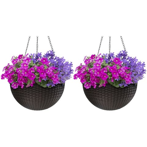 Maliki Self-watering Hanging Planters (Set of 2) by Havenside Home
